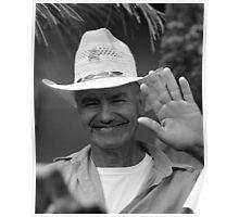 Man waving Poster