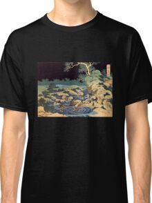 'Fishing With Torches' by Katsushika Hokusai (Reproduction) Classic T-Shirt
