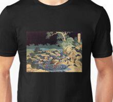 'Fishing With Torches' by Katsushika Hokusai (Reproduction) Unisex T-Shirt
