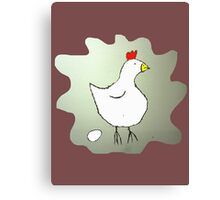 Chicken and Egg Canvas Print