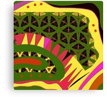 BRIGHTS, alligator abstract, geometric patterns Canvas Print