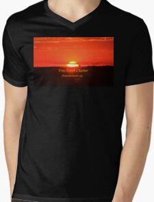 Suspenseful Sunrise Mens V-Neck T-Shirt