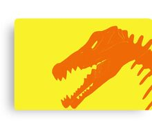 Dino in Orange and Yellow Canvas Print