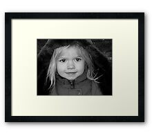 Abby  With alittle Smile Going On Framed Print