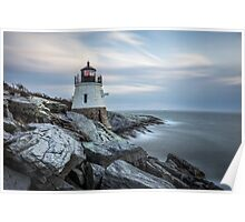 Castle Hill Lighthouse at Sunset Poster