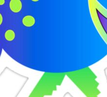 Turquoise Quail Sticker