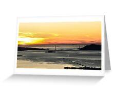Golden Gate Sunset Greeting Card