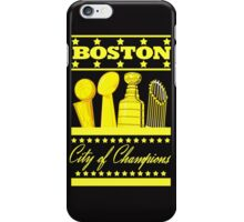 Boston - City of Champions (Gold) iPhone Case/Skin
