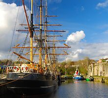 Tall Ships Charlestown Harbour Cornwall by DonDavisUK