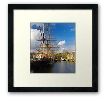 Tall Ships Charlestown Harbour Cornwall Framed Print