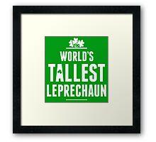Worlds Tallest Leprechaun Framed Print