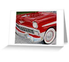 Chrome King, 1956 Chevy Bel Air Greeting Card