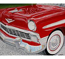 Chrome King, 1956 Chevy Bel Air Photographic Print