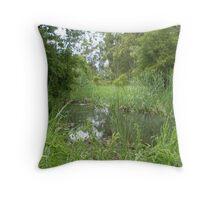 """Swamp""""d Throw Pillow"""