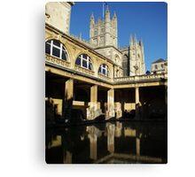 Bath and Bath Abbey Canvas Print