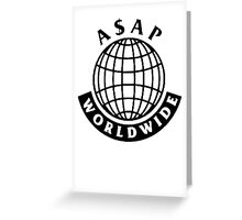 ASAP Mob  Worldwide Greeting Card