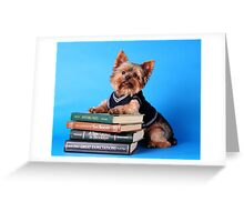 Book smart Greeting Card