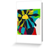Tropical, summer abstract Greeting Card