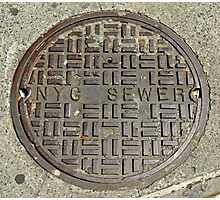 NYC Sewer Cover. Photographic Print