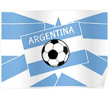 Argentina Football Poster