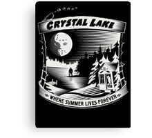 Camp Crystal Lake: Where Summer Lives Forever Canvas Print