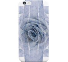 Blue Rose And Ribbon Lace iPhone Case/Skin