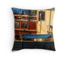 Nyhavn Boat Throw Pillow