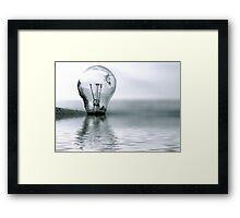 Global warming... Framed Print