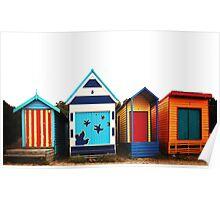 Mornington Peninsula - boat sheds Poster