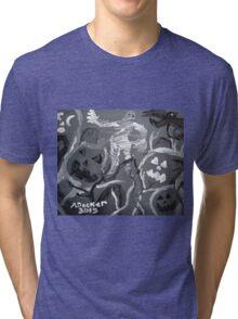 Halloween Shadows Tri-blend T-Shirt