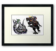 cyber dragon vs grimlock Framed Print
