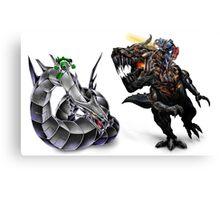 cyber dragon vs grimlock Canvas Print