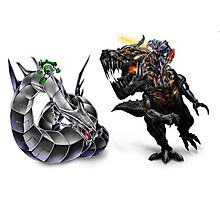cyber dragon vs grimlock Photographic Print