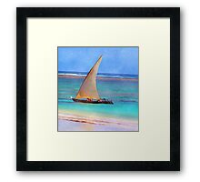 Boat on Beach Framed Print