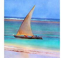 Boat on Beach Photographic Print