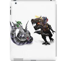 cyber dragon vs grimlock iPad Case/Skin