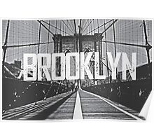 Brooklyn Bridge Typography Print Poster