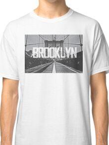 Brooklyn Bridge Typography Print Classic T-Shirt
