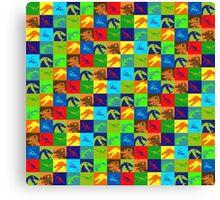 Dino Rainbow Canvas Print
