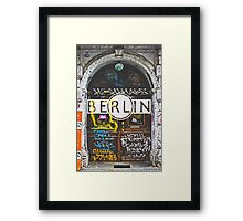 Berlin Grafitti Typography Print Framed Print