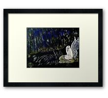 Deep in the Forest in the Quiet,  of Night ! Framed Print