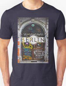 Berlin Grafitti Typography Print Unisex T-Shirt