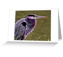 Portrait of a Heron Greeting Card
