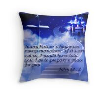 Mansion In the Sky Throw Pillow
