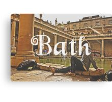 Bath II Typography Print Canvas Print