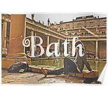 Bath II Typography Print Poster