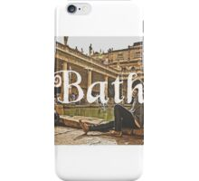Bath II Typography Print iPhone Case/Skin