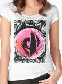 Ball of Beach Time Fun! Women's Fitted Scoop T-Shirt