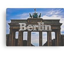 Berlin Wall Typography Print Canvas Print