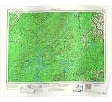 Maine USGS Historical Map Presque Isle 707533 1954 250000 Poster